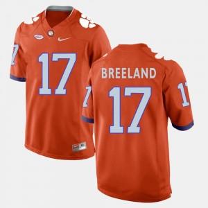 For Men College Football Bashaud Breeland Clemson National Championship Jersey #17 Orange