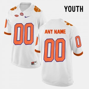 College Limited Football White Youth(Kids) #00 Clemson National Championship Custom Jerseys