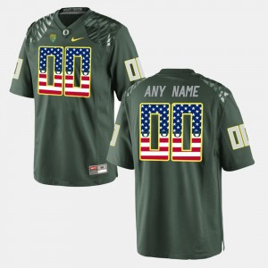 #00 US Flag Fashion For Men UO Customized Jersey Green