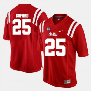 Alumni Football Game Mens Red D.K. Buford Rebels Jersey #25