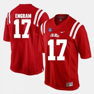 Alumni Football Game #17 Men's Evan Engram Ole Miss Jersey Red