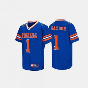 Florida Jersey For Men #1 Royal Blue Hail Mary II