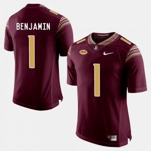 College Football Garnet BKelvin Benjamin Florida State Seminoles Jersey #1 Men's
