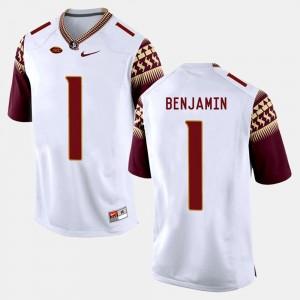 College Football BKelvin Benjamin FSU Seminoles Jersey For Men's #1 White
