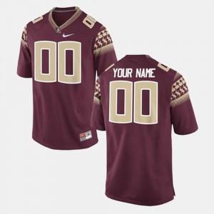 crimson For Men College Football #00 FSU Seminoles Customized Jerseys