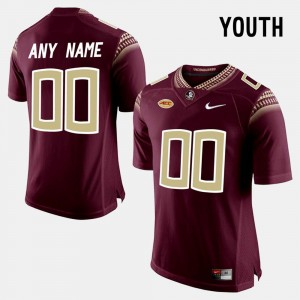 Youth #00 Red College Limited Football Florida State Customized Jerseys