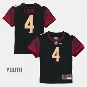#4 Dalvin Cook Seminoles Jersey Kids Black Alumni Football Game