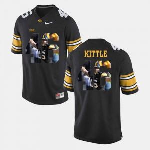 Pictorial Fashion Black George Kittle Iowa Jersey #46 For Men