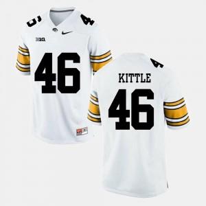 Men's Alumni Football Game White George Kittle Iowa Jersey #46