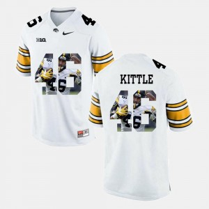 #46 George Kittle Iowa Hawkeyes Jersey Pictorial Fashion Men White