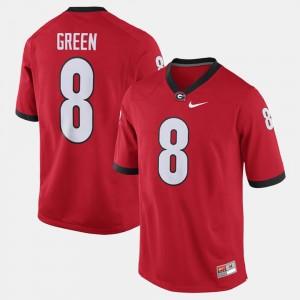 For Men's A.J. Green Georgia Bulldogs Jersey #8 Red Alumni Football Game