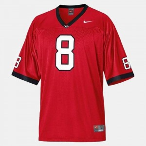 College Football #8 A.J. Green Georgia Jersey Red Youth(Kids)
