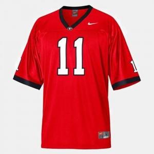 Men College Football Aaron Murray University of Georgia Jersey Red #11