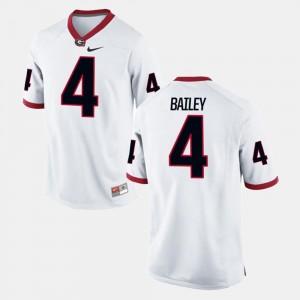 White #4 Alumni Football Game For Men Champ Bailey Georgia Jersey