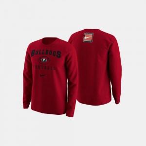 UGA Bulldogs Sweater Mens Red College Football Retro Pack