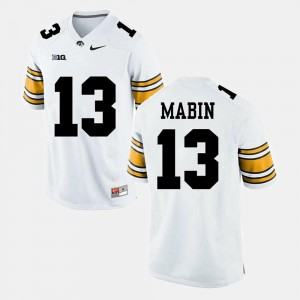 Men's Greg Mabin Iowa Hawkeyes Jersey Alumni Football Game White #13
