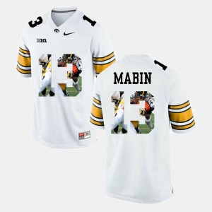 Greg Mabin University of Iowa Jersey Pictorial Fashion #13 White For Men's