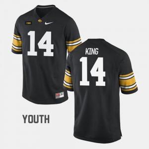 Youth(Kids) Black #14 College Football Desmond King Hawkeyes Jersey
