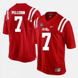 Jason Pellerin Ole Miss Jersey Alumni Football Game Red #7 For Men