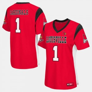 For Women's Cardinals Jersey Red College Football #1