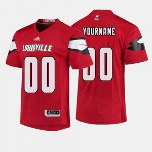 #00 Mens College Football Red Cardinals Customized Jerseys