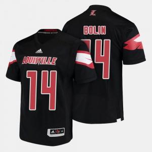 Black Kyle Bolin Louisville Jersey Men College Football #14