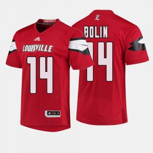 Red College Football #14 For Men's Kyle Bolin Cardinals Jersey