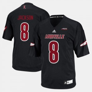 Black #8 Lamar Jackson Cardinals Jersey For Men's College Football