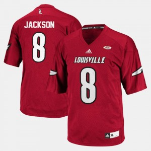 Mens Lamar Jackson Louisville Jersey #8 College Football Red