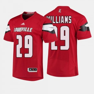For Men's Malik Williams Louisville Jersey #29 College Football Red