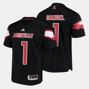 Traveon Samuel Louisville Jersey #1 Black Men's College Football