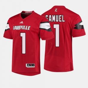 College Football Men's #1 Traveon Samuel Cardinals Jersey Red