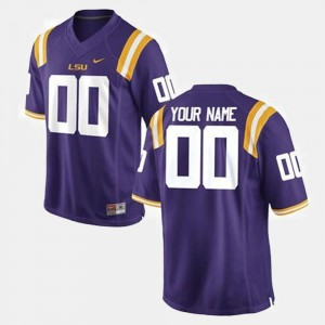 #00 For Men's Purple LSU Tigers Customized Jersey College Football