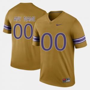 Throwback Gridiron Gold Tigers Customized Jerseys Men's #00