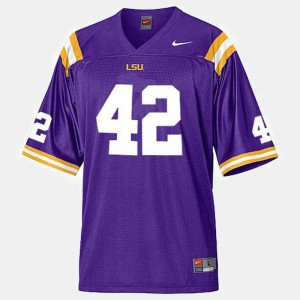 #42 College Football Men Michael Ford LSU Tigers Jersey Purple