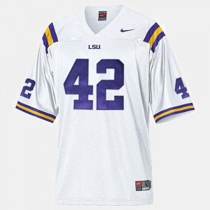 Michael Ford Tigers Jersey College Football Mens White #42