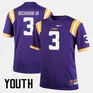 Kids Purple Odell Beckham Jr Tigers Jersey Alumni Football Game #3
