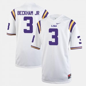 Odell Beckham Jr LSU Jersey White #3 For Men Alumni Football Game