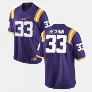 Mens Odell Beckham Jr. LSU Tigers Jersey Purple #33 College Football
