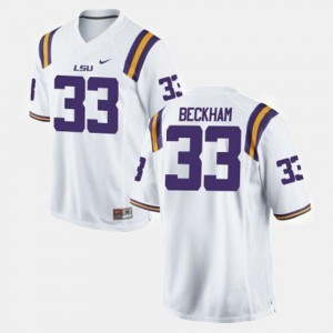 #33 White Mens College Football Odell Beckham Jr. LSU Jersey