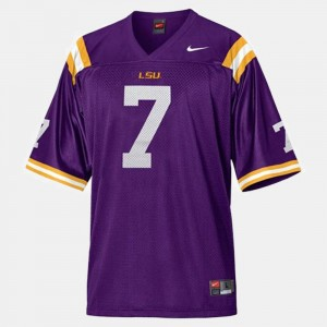 Youth(Kids) College Football Purple #7 Patrick Peterson Tigers Jersey