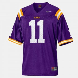 College Football For Kids #11 Purple Spencer Ware Louisiana State Tigers Jersey