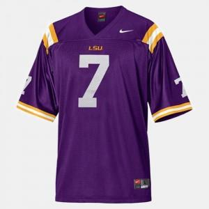 Youth(Kids) #7 Purple College Football Tyrann Mathieu Louisiana State Tigers Jersey