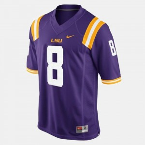 Men Purple #8 Zach Mettenberger Tigers Jersey College Football
