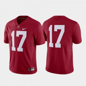 For Men's Crimson #17 Limited Bama Jersey College Football Nike