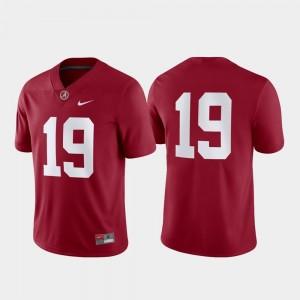 Men Nike Alabama Jersey Game #19 Crimson