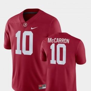 Mens AJ McCarron Alabama Jersey #10 Game Crimson College Football Nike