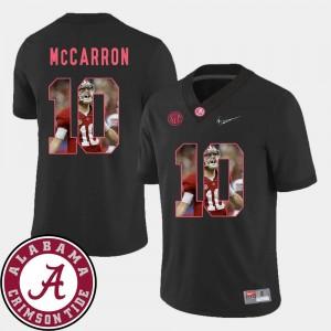 #10 AJ McCarron Alabama Jersey Pictorial Fashion Football Men's Black