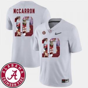 Football #10 Pictorial Fashion For Men AJ McCarron University of Alabama Jersey White