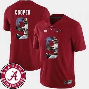 Men Crimson #9 Amari Cooper Bama Jersey Pictorial Fashion Football